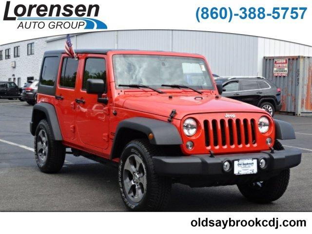 Pre Owned 2015 Jeep Wrangler Unlimited 4WD 4dr Sport