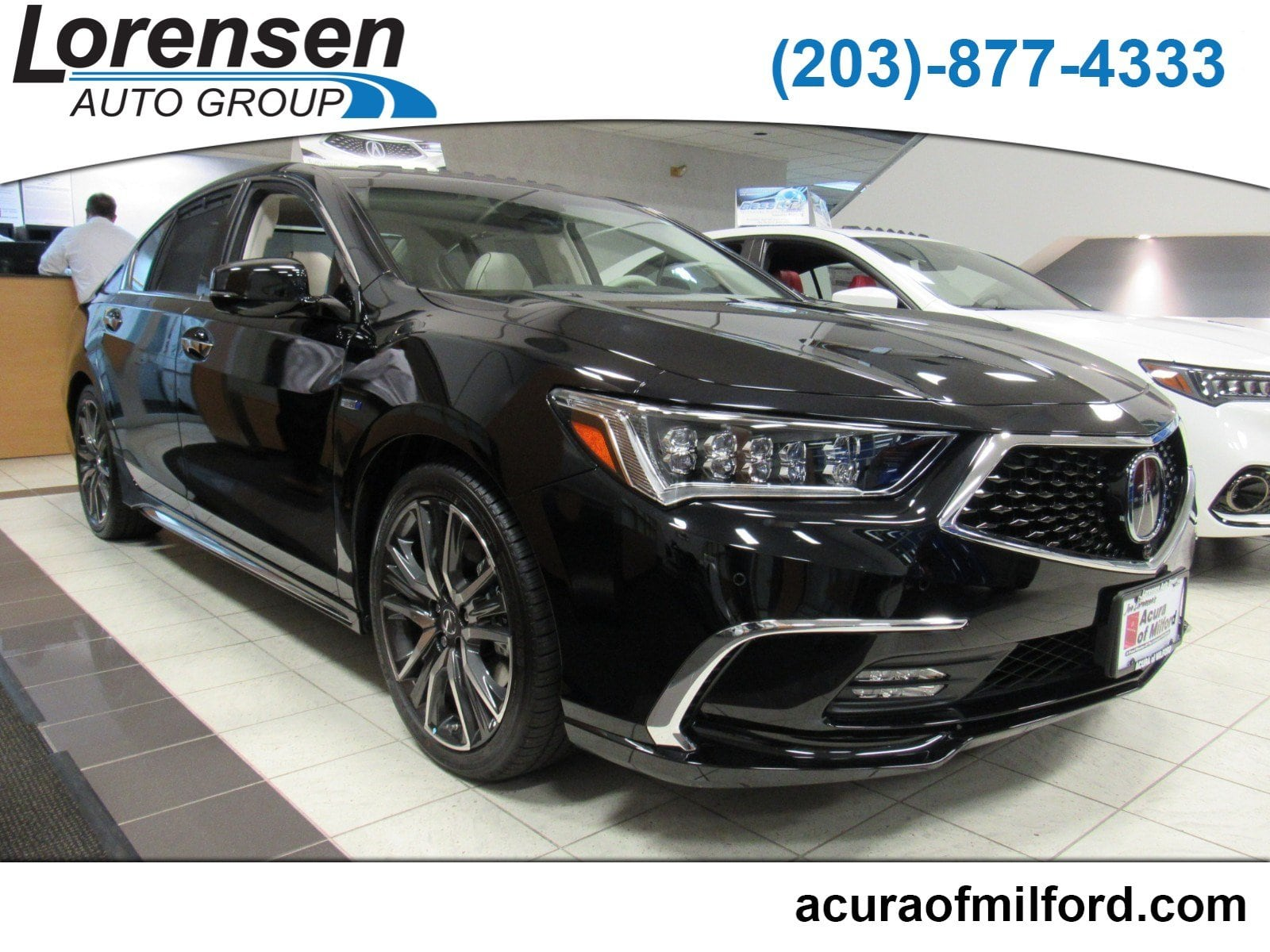 New 2019 Acura RLX Sport Hybrid SHAWD ADV Sedan in Milford